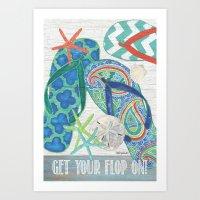 Flippin Flops Art Print