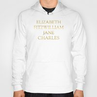 pride and prejudice Hoodies featuring Characters from Pride & Prejudice by Bookish and Wonderful