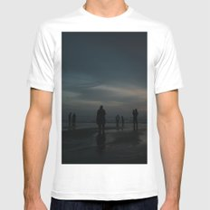 Ghost Beach Mens Fitted Tee White MEDIUM