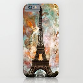 The Eiffel Tower - Paris France Art By Sharon Cummings iPhone Case