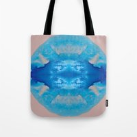 stargate Tote Bags featuring The Zeta Stargate by katy zimmerman