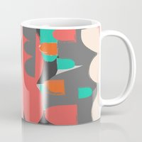 n7 Mugs featuring Abstract n7 by HaloCalo