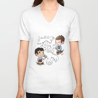 glee V-neck T-shirts featuring The Sound Of Love by Sunshunes