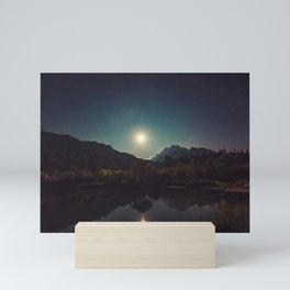 Sunny Mountain Sky Mini Art Print