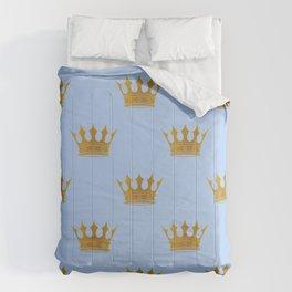 Louis Blue Gold Crown Prince of Cambridge Comforters