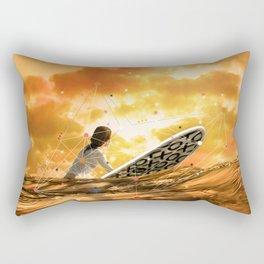 SURFING IN ORANGE CRUSH Rectangular Pillow