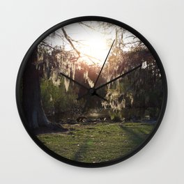 A Gleaming Afternoon In New Orleans City Park Wall Clock