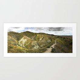 Panorama of Carrizo Plain Art Print