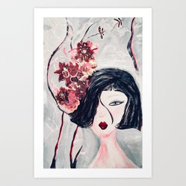 While She Was Praying Art Print