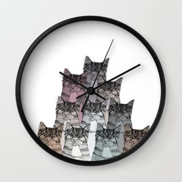 Cats colors Wall Clock