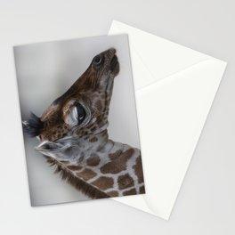 Baby Giraffe with Big Eyes Stationery Cards