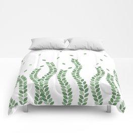 Green Vine Pattern Comforters
