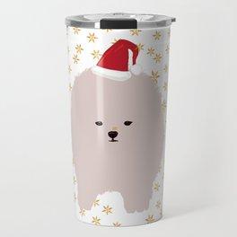 Happy Holidays Fluffy Travel Mug