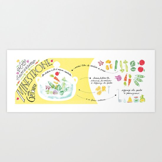Minestrone, the traditional recipe ! Art Print
