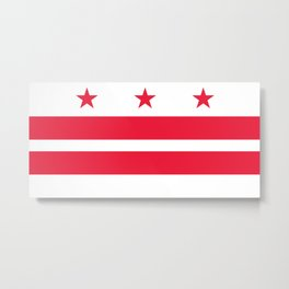 Flag of the District of Columbia - Washington D.C authentic version Metal Print