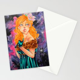 Tantum - Lady with sky Stationery Cards