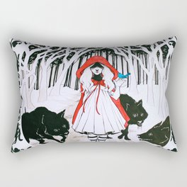 Amongst Wolves Rectangular Pillow