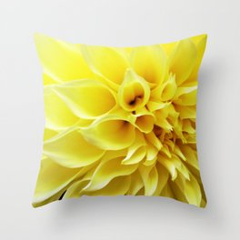 Summer Dahlia in Yellow Throw Pillow