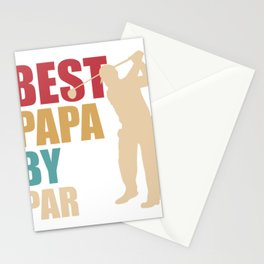Best Father Dad Father's Day Golf Funny Gift Stationery Cards
