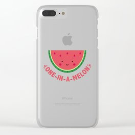 One in a Melon (Watermelon) Clear iPhone Case