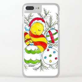 Christmas Cuddle Clear iPhone Case