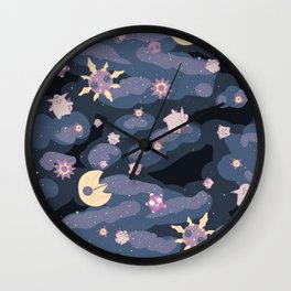 Cuties in Space Wall Clock
