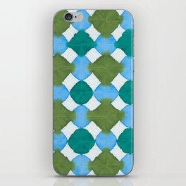 Shibori (green and blue) iPhone Skin