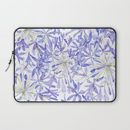 blue purple African lily watercolor painting Laptop Sleeve