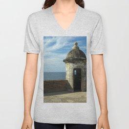Puerto Rico Fort Unisex V-Neck