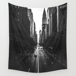 New York City (Black and White) Wall Tapestry