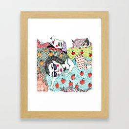 Ladies in Apple Trees Framed Art Print