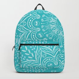 Teal mandala Backpack