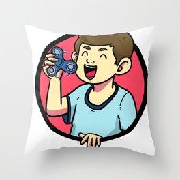 Fidget Toys Gift Player Son Daughter Throw Pillow