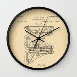 1890 Patent Bicycle saddle Wall Clock