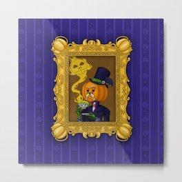 Mister Pumpkin Portrait Metal Print