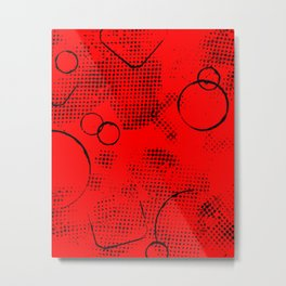 Painted Texture #26 Augmented in Red Metal Print