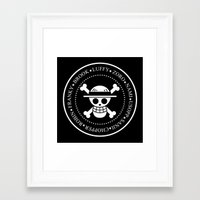 ramones Framed Art Prints featuring Strawmones by Rookie Art&Illustration