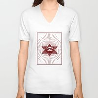 third eye V-neck T-shirts featuring Third Eye by Stranger Designs