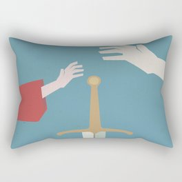 The sword in the stone, minimalist movie poster, animated film, King Arthur, Merlin, retro playbill Rectangular Pillow