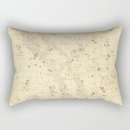 Vintage Map Print - 1853 celestial map - Libra, Sagitarius, Capricorn, Scorpio, etc. Rectangular Pillow