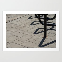 Lines of Concrete and Shadow Art Print