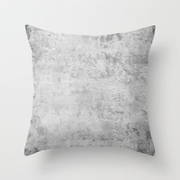 concrete wall vintage grey background,  wall texture * Throw Pillow