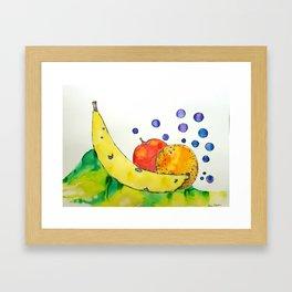 Bubbly Mixed Fruit Framed Art Print
