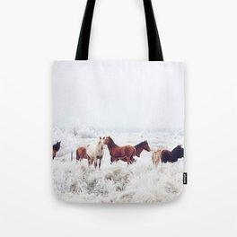 Winter Horseland Tote Bag