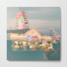 ferris wheel. Let's Be Kids Again Metal Print