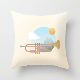 Summer Ballad Throw Pillow