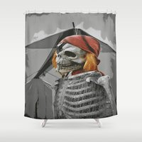 scary Shower Curtains featuring scary by mayrarosito