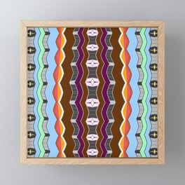 Neo Tribal Earth and Sky Soulful Geometric Modern Framed Mini Art Print