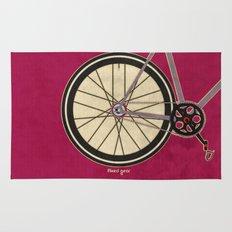 Single Speed Bicycle Rug