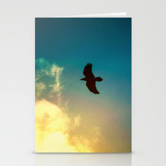 Raven Flight Stationery Cards